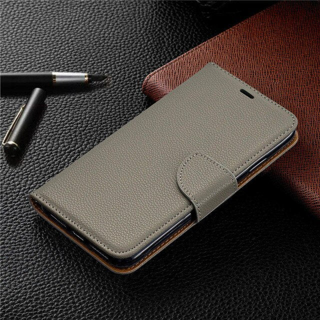 Luxury Leather Case Samsung Galaxy Note 10 S9 S10 J6 J4 Plus 2018 S10E Flip Wallet Card Holders Protective Cover