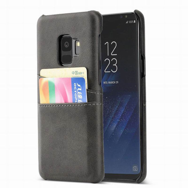 PU Leather Card Slot Holder Case Samsung S9 S8 Plus Note 9 8 S7 Edge A8 A6 A7 2018 Hard PC Plastic Case - Casebuddy