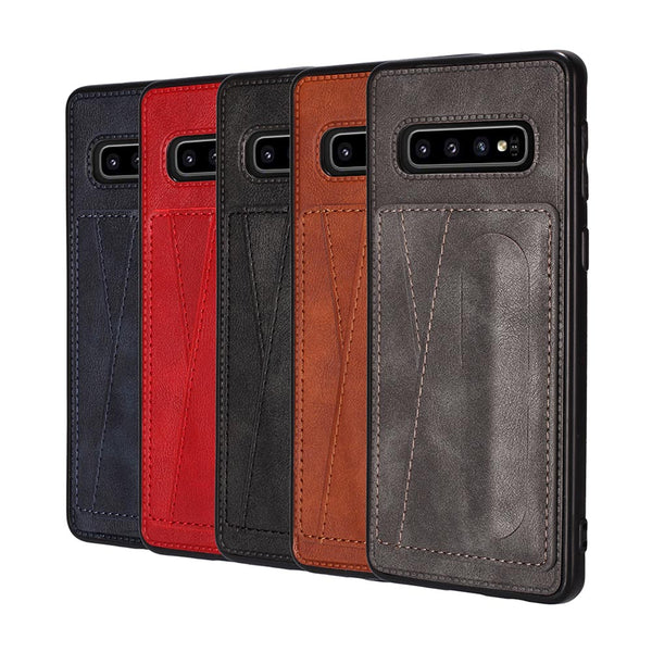 Original Case Samsung Galaxy A70 A50 A30 A20 Note 10 9 S10 S9 Plus 5G Card Slot PU Leather Holder Case - Casebuddy