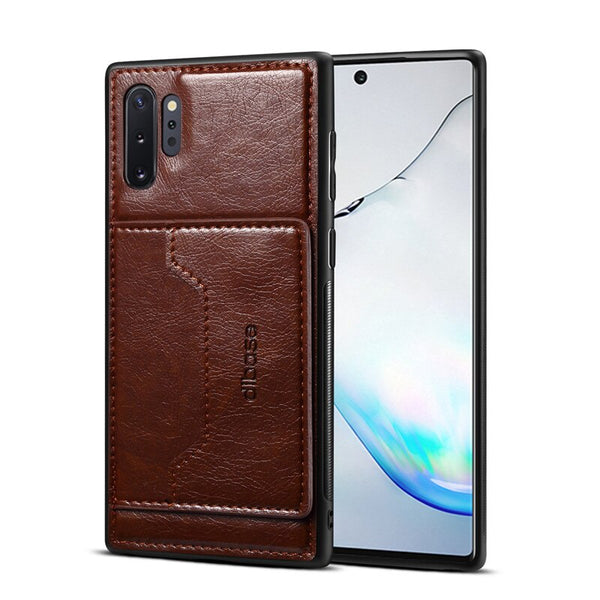 Car Magetic Wallet Samsung Note 10 Plus 5G A70 A50 A60 A30 Crazy Horse Leather Stand Back Cover - Casebuddy
