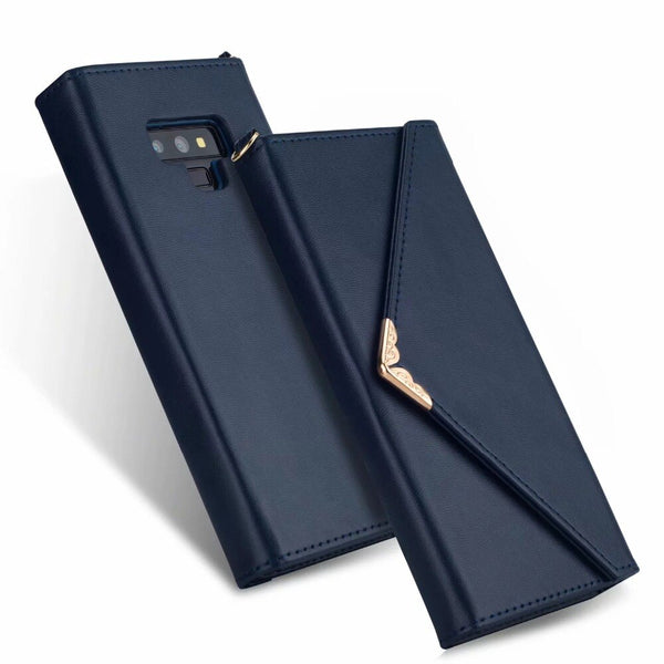 Dower Me Luxury Fashion Envelope Flip Wallet Magnetic Card Slots Leather Case Samsung Galaxy Note 9 8 S9 S8 Plus S7 Edge - Casebuddy