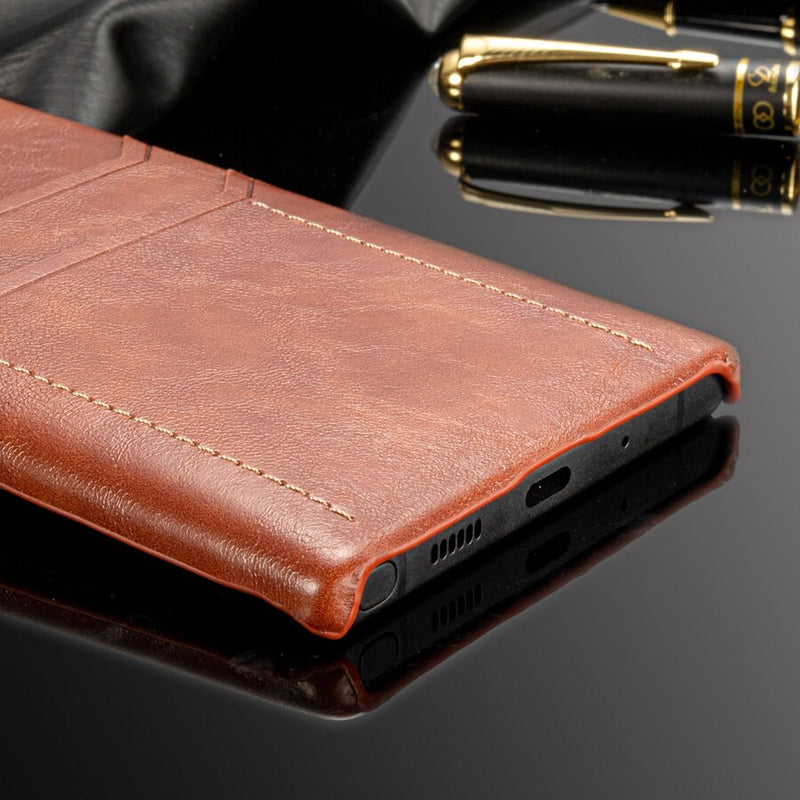 Card Holder Case Samsung Galaxy Note 10 Plus 5G Luxury Leather Wallet Shockproof Hard Back Cover - Casebuddy
