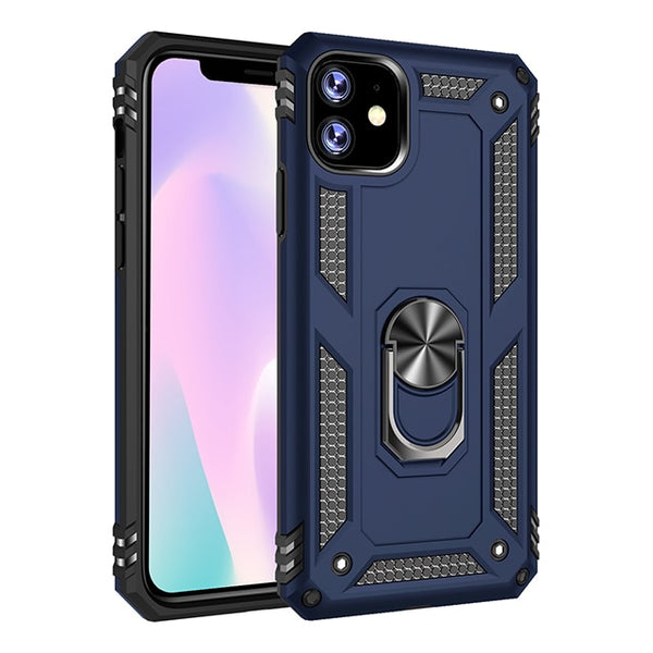 Magnetic Case iPhone 11 Pro 2019 iPhone XR X Xs Max 7 8 6 6S Plus Luxury Shockproof Metal Ring Case - Casebuddy