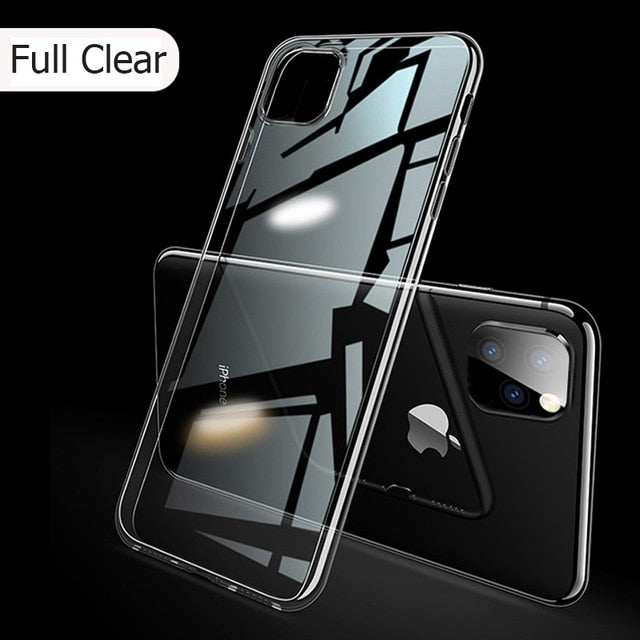 Laser Plating Luxury TPU Soft Clear Cover For iPhone 11 Pro Max Plus 2019 Bright Crystal Case - Casebuddy