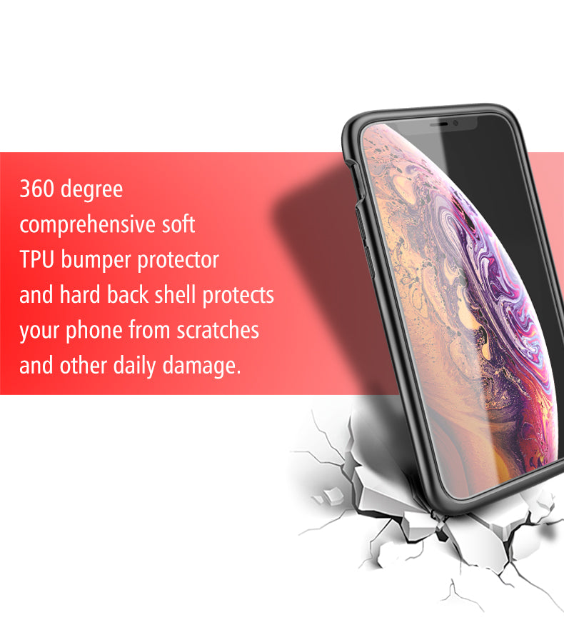 iPhone 11 Pro Max Battery Charger Case 5000mAh Wireless Power Bank Charing Case Support Audio - Casebuddy