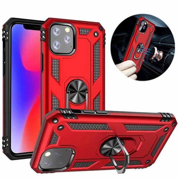iPhone 11 Pro Max 7 8 6 6S Plus X XR XS Max Case Luxury Armor Magentic Ring Silicone Back Cover Coque - Casebuddy