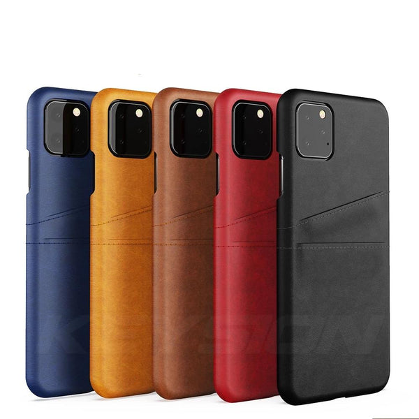 Leather Wallet Case iPhone 11 Pro Max Xs X XR 6s 7 8 Plus with Card Pocket Phone Back Cover - Casebuddy