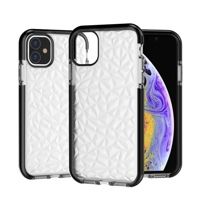 Luxury Silicone Shockproof Case iPhone 11 PRO MAX  Xs Max XR 7 8 Plus Diamond Coque - Casebuddy