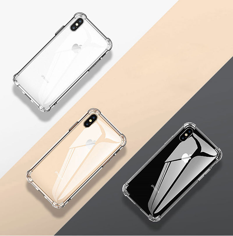 Luxury Shockproof Silicone  Case iPhone 7 8 6 6S Plus X XS Max 11 Pro Max Cases Transparent Protection Back Cover - Casebuddy