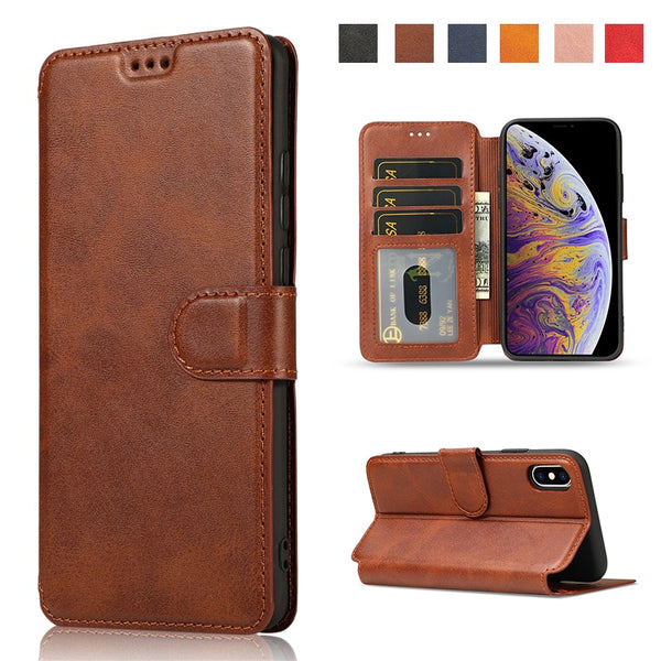 iPhone 11 Pro XS Max XR X  8 7 6 6s Plus 5 5S SE Flip Wallet Card Holder Case