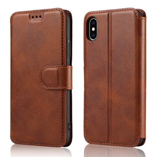 iPhone 11 Pro XS Max XR X  8 7 6 6s Plus Case 5 5S SE Protection Cover Flip Wallet Card Holder Coque - Casebuddy