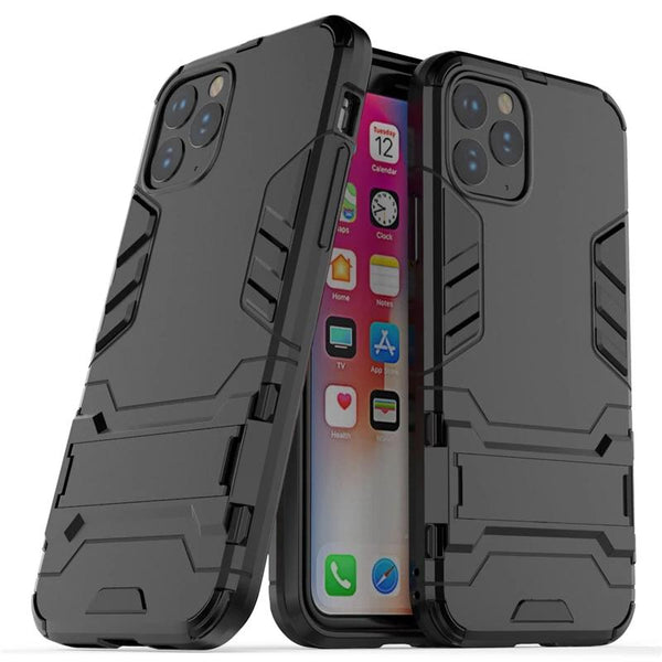 iPhone 11 Pro Max Case Rubber Robot Armor Shell Hard PC TPU Back Phone Cover Protective Case - Casebuddy
