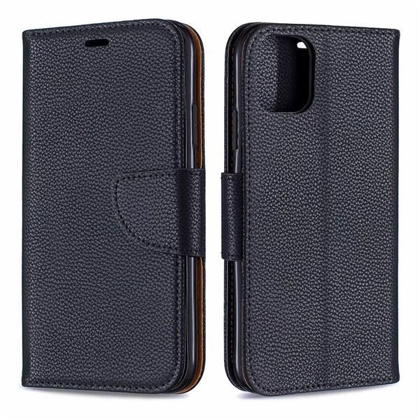 Classic Litchi Leather Wallet Case iPhone 11 Pro Xs Max XR 7 8 6s 6 Plus Stand Card Slots Cover Case - Casebuddy