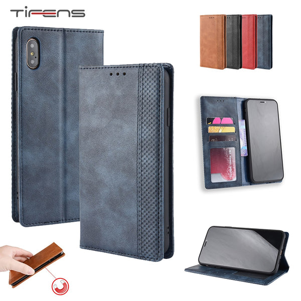 Leather Flip Wallet Case iPhone 11 Pro X XR XS MAX 8 7 6 6s + Plus Strong Magnetic Card Holder Cover - Casebuddy