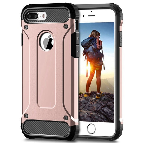 Rugged Dual Layer Armor Case iPhone 11 Pro Max 2019 6 6s 7 8 Plus X XS Max XR 5 5S SE Case Duty Shockproof Hard PC TPU Cover - Casebuddy