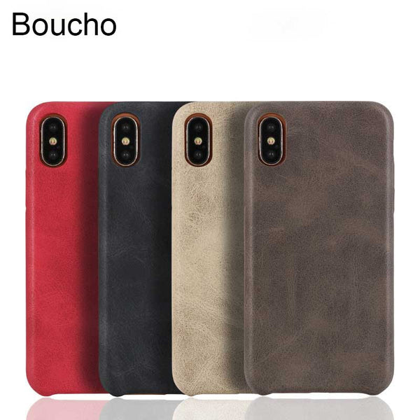 iPhone XS MAX 7 6 6s 8 7 Plus 11 Pro Max Fashion Vintage PU Leather Pattern Case