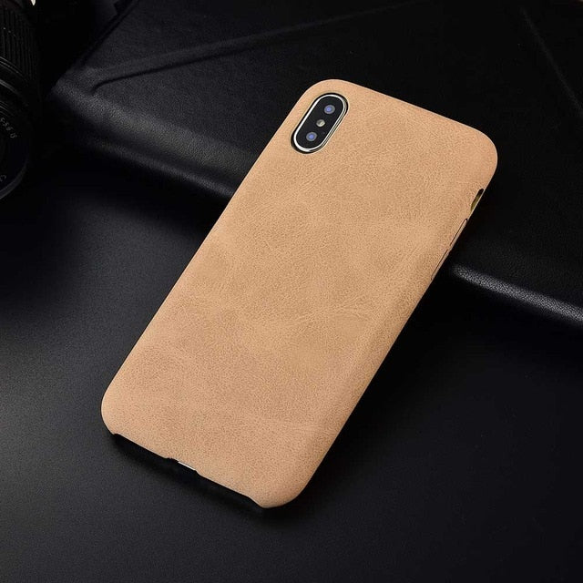 iPhone XS MAX 7 6 6s 8 7 Plus 11 Pro Max Fashion Vintage PU Leather Pattern Case - Casebuddy