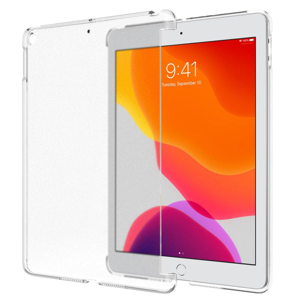"New iPad 7th Generation 10.2"" 2019 (Compatible with Official Smart Cover) - Slim Fit Back Shell Hard Clear Case Cover - Casebuddy"