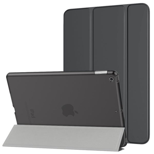 "New iPad 7th Generation 10.2""2019 Slim Translucent Frosted Back Protective Cover Shell with Auto Wake - Casebuddy"