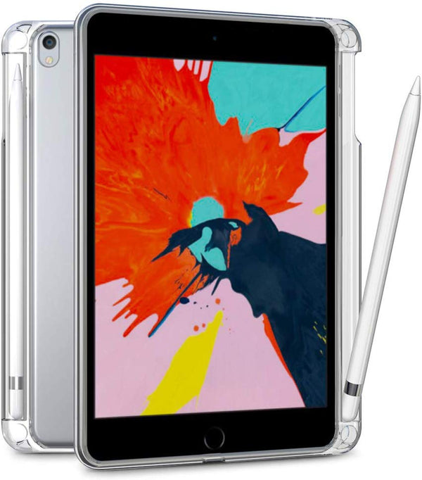 iPad 10.2 2019 Case with Pencil Holder,Matte Clear Silicon Soft TPU Case for iPad 7th A2200 A2198 A2232 - Casebuddy