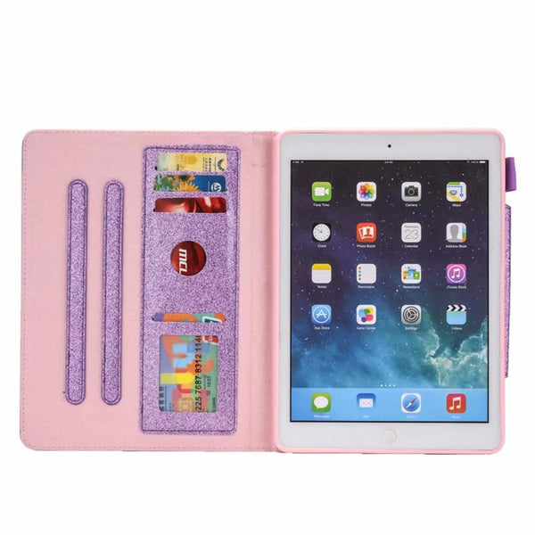"Glitter Case iPad 7th 10.2"" 2019 A2200 With Card Holder Adjustment Stand Cover iPad 10.2 A2198 A2232 - Casebuddy"