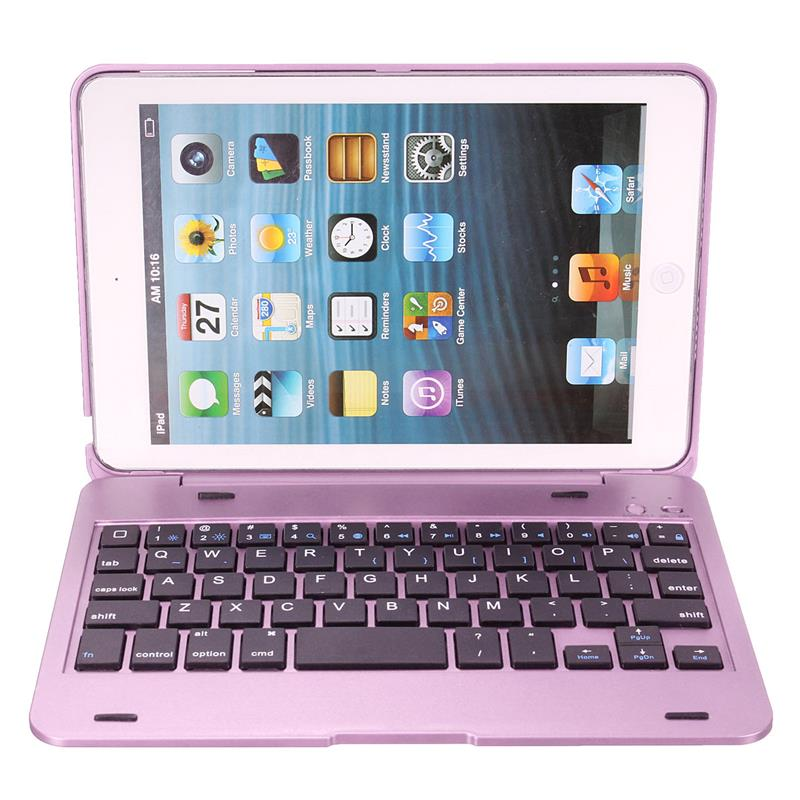 iPad Mini 1 2 3 bluetooth 3.0 Wireless Keyboard Case Cover Dustproof Foldable Stand Cover Case Holder - Casebuddy