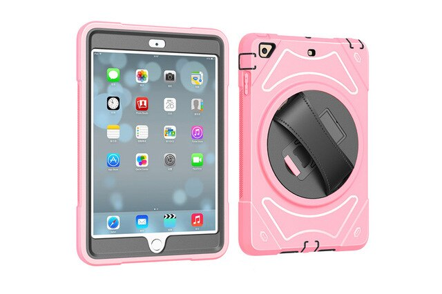 For Apple iPad mini 1 / 2 / 3 Hand Belt Holder Full Body Armor Shockproof Case Cover - Casebuddy