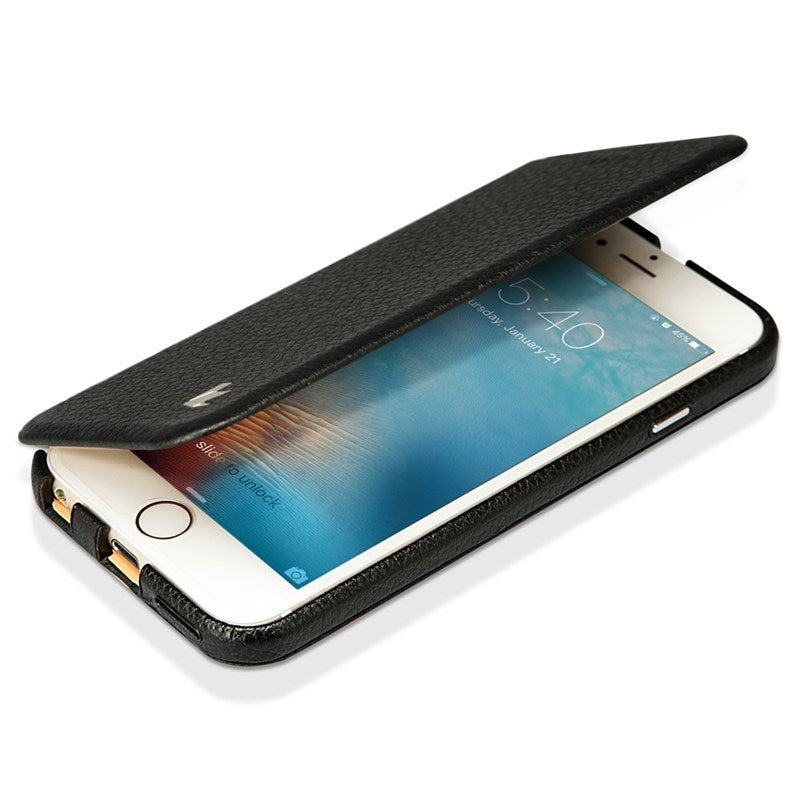Jisoncase Smart  iPhone 6 6S Cover Case Genuine Leather Luxury Folio Flip Slim - Casebuddy