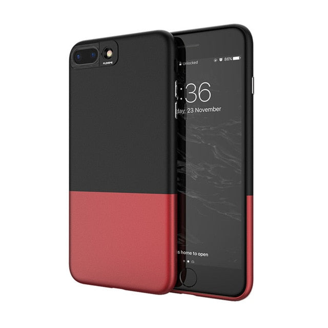 FLOVEME Cool Hit Color Splice 2 in 1 Hard Cover For iPhone 8 7 6 6s Plus Ultra Thin - Casebuddy