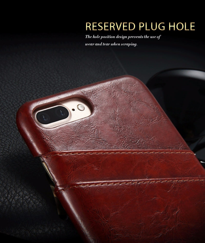 FLOVEME Card Holder iPhone X XS PU Leather Case For iPhone 8 7 6 Plus 5 5S Quality Back - Casebuddy