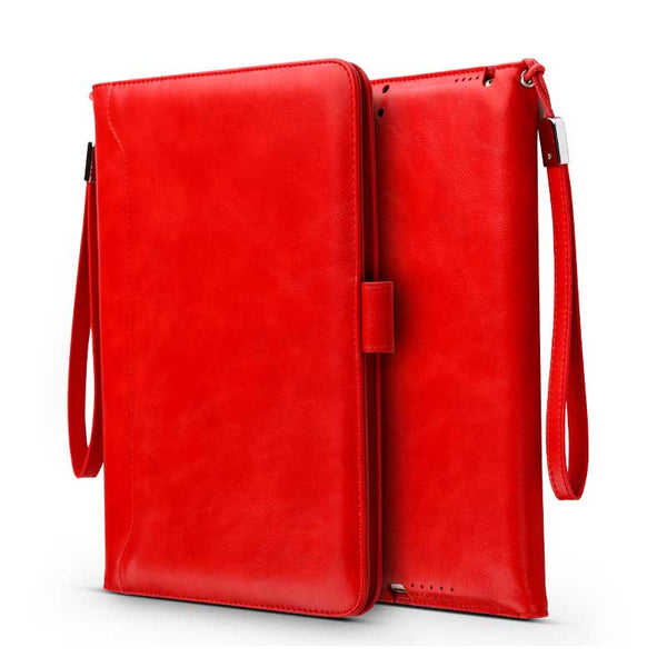 Universal Retro Handheld Leather Case Luxury Strap Card Business Smart Cover for iPad mini 1 2 3 - Casebuddy