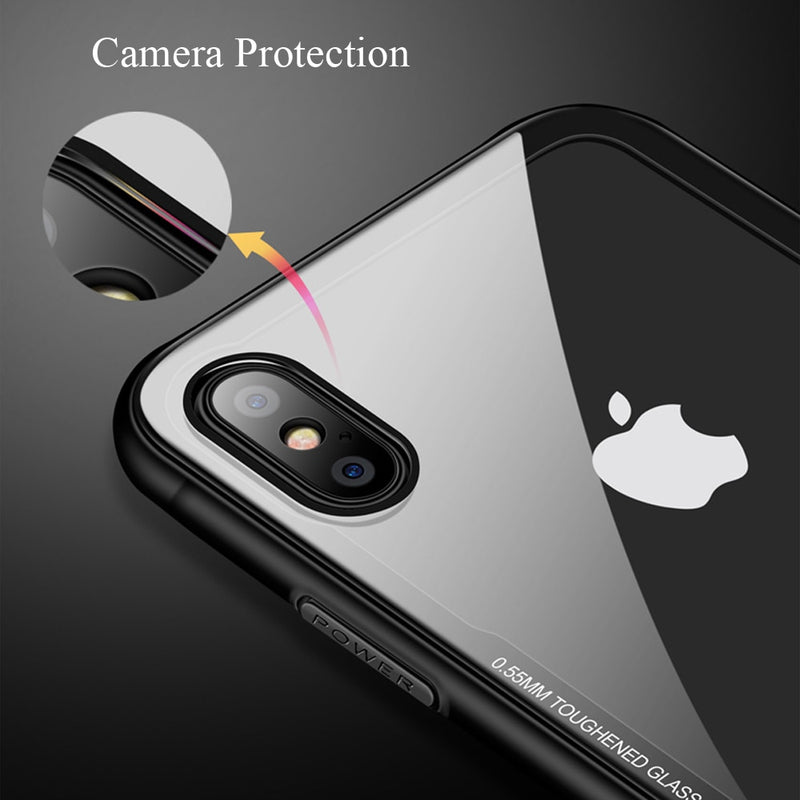 FLOVEME Shockproof Tempered Glass Anti-knock Protective iPhone X XS MAX XR 7 8 6 6S Plus Cover - Casebuddy