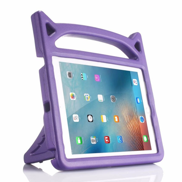 iPad Mini 1 2 3 4 5 Case Kids Safe Cartoon Shockproof Hand Holder Foam EVA Silicone Cover - Casebuddy