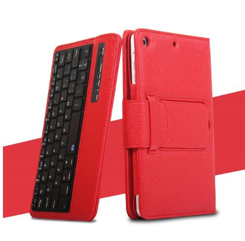 Keyboard Case For iPad Mini 3 2 1 PU Leather Folio Smart Cover with Detachable Bluetooth Keyboard - Casebuddy