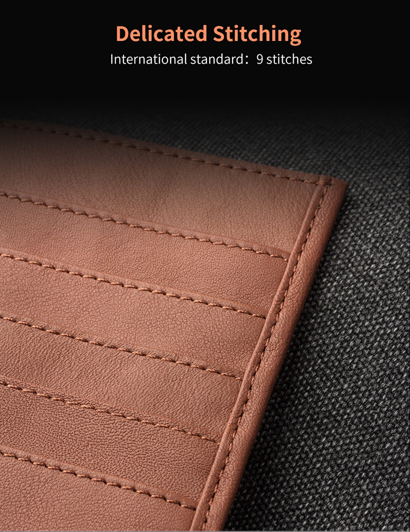 QIALINO Genuine Leather Wallet Case for iPhone X XS Max XR Pouch Card Slot Luxury Slim - Casebuddy
