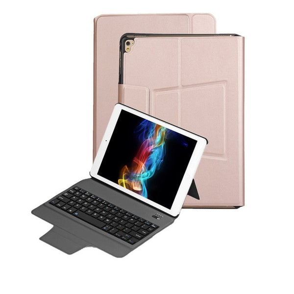 Bluetooth Keyboard Case With Ultra Slim Stand Leather Cover For iPad 9.7 2017 2018 Pro 9.7 Air 1/2 - Casebuddy