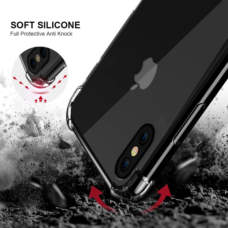 FLOVEME Shockproof Case Soft Silicone Rubber Case For iPhone X XS MAX XR 7 8 8S Plus - Casebuddy