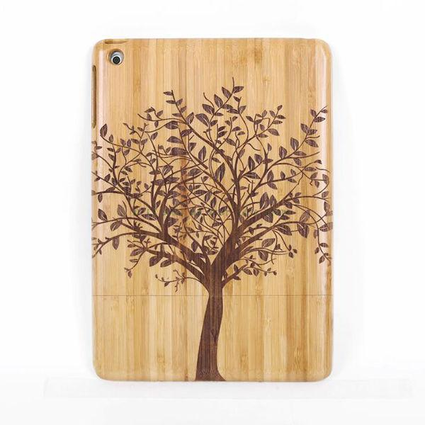 Tree Natural Wood Bamboo Hard Case Back Cover for iPad Air - Casebuddy