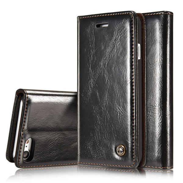 CaseMe Unique Magnet Flip Wallet Card Leather Book Case For iPhone XS Max XR X 8 7 7 Plus 6 6s Plus 5 5S SE - Casebuddy