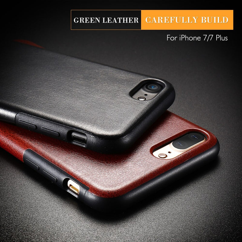FLOVEME Leather PU Case iPhone XS Max XR X 7 8 6 6s Plus Soft Back Full Protective TPU - Casebuddy