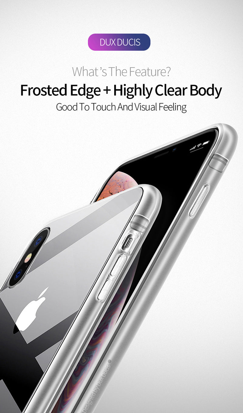 DUX DUCIS Transparent TPU Case for iPhone Xs X XS Max XR Clear Soft Silicone Protective Cover - Casebuddy