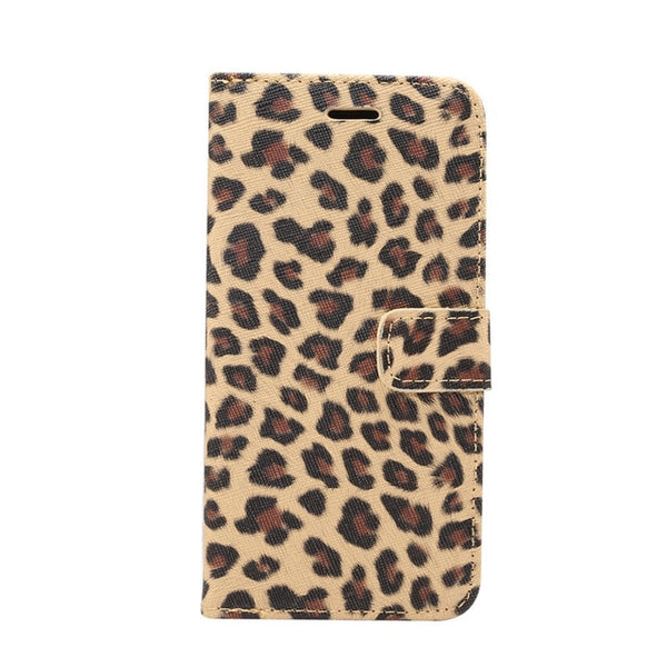 Wallet Flip Case For Apple iPhone XS Max XR X 6 6S 7 8 Plus 5 5S SE Cover Leopard Panther Print Leather Coque