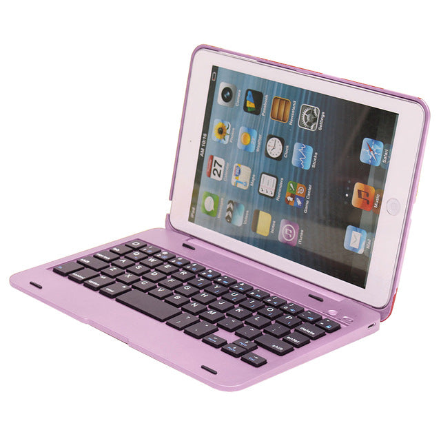 High Quality For Apple iPad Mini 1 2 3 Case Foldable Rechargeable Bluetooth Keyboard Case Cover - Casebuddy