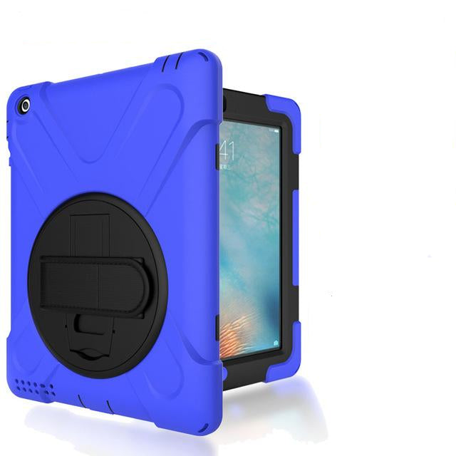 360 Degree Swivel Stand Handle Stand & Shoulder Strap Cover Three-Layer Hybrid Case iPad 2 3 4 - Casebuddy