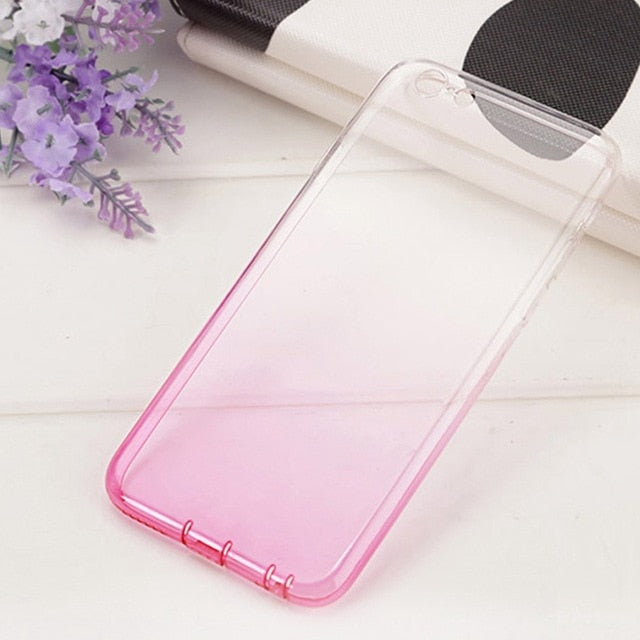 FLOVEME Rubber Gel Colorful Clear iPhone X XS MAX XR 6 7 8 Plus 5 5S SE Ultra Silicone Case - Casebuddy