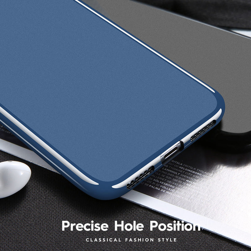 FLOVEME iPhone 6 6s 7 8 Plus X XR XS Max Ultra Slim Soft TPU Case Plain Color Simple Back Cover - Casebuddy