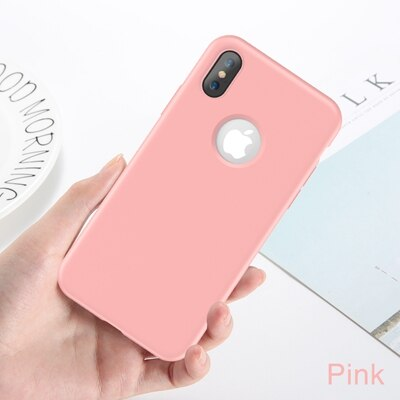 FLOVEME Light Weight Rubber iPhone X XS 8 7 6 6S Plus Super Slim Back Flip Silicone - Casebuddy