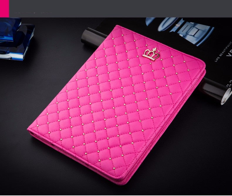 Bling Crown Coque iPad mini 1 2 3 Case Luxury Stand A1432 A1454 A1490 Luxury Cover