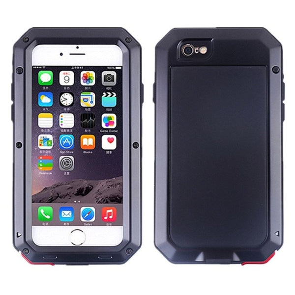 Heavy Duty Metal Aluminum Armor Waterproof Case For iPhone 6 6S 7 8 Plus X 5S SE 4 4S XS MAX XS Shockproof Cover - Casebuddy