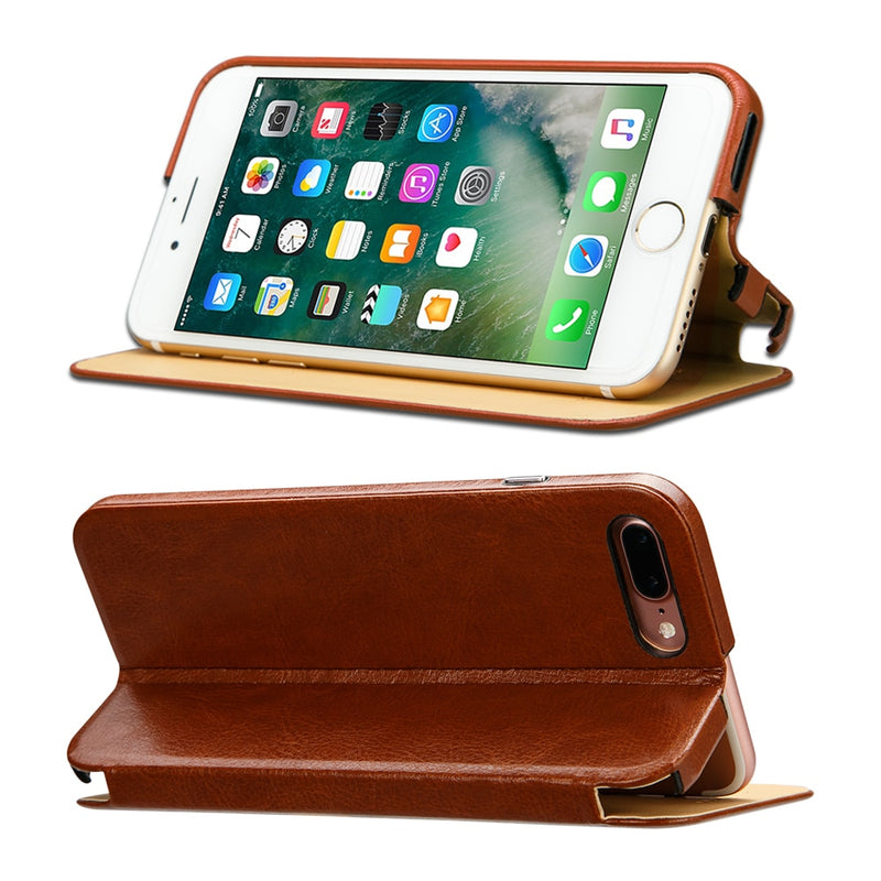 Jisoncase Original Case iPhone 7 8 Plus Microfiber Luxury Brand Anti-knock Magnetic Kickstand Cover - Casebuddy